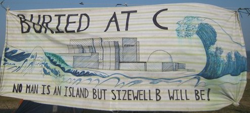 Sizewell Blockaders Banner - used a month before Fukushima (http://www.indymedia.org.uk/en/2011/02/473232.html)